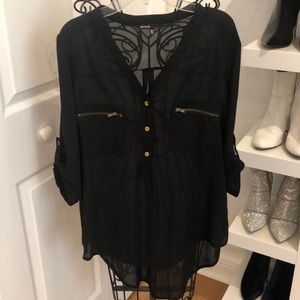 Black Blouse 3/4 sleeves